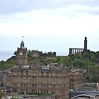 Look towards Calton Hill by Cathy Jones
