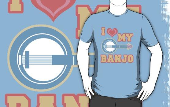 I Love My Banjo by evisionarts