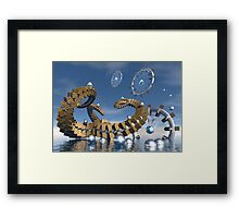 Time chasers  Framed Print