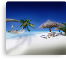 Exotic Holiday Destination  Canvas Print