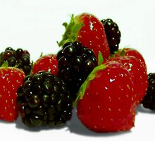 Sweet Summer Berries. by Aj Finan
