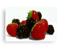 Sweet Summer Berries. Canvas Print