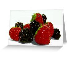 Sweet Summer Berries. Greeting Card