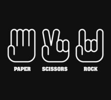 Paper Scissors ROCK by stuartist