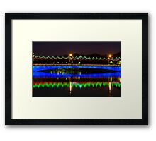 Single Arch - Ferdowsi Bridge - Esfahan - Iran Framed Print