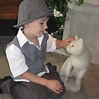 boy and cat by Leeanne Middleton