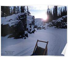 """""""Isolation - Alaska Canyon"""" Poster"""