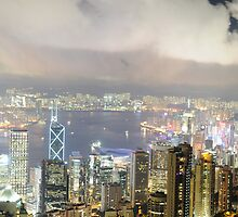 Hong Kong At Night by nikcoolpix