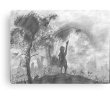 boy inside his perfect world Canvas Print
