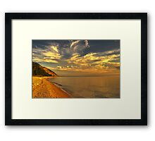 Sunset at Lake Michigan - Sleeping Bear Dunes National Lakeshore Framed Print