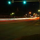 Night traffic in Topeka by agenttomcat