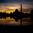 Floating Mosque by artz-one