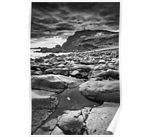 Cornwall - Priest Cove BW Poster