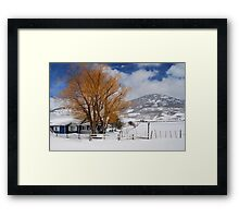 Outstanding in Orange - Snow Scene Framed Print
