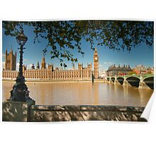 Houses of Parliament from the Southbank: London, UK Poster