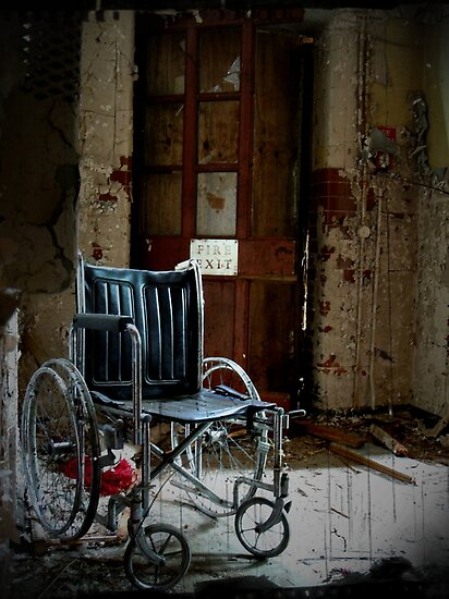 Fire Exit ~ West Park Asylum by Josephine Pugh