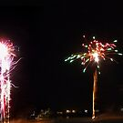 Beach Fireworks by PhoenixArt