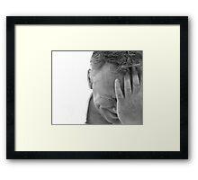 Hide and seek: Framed Print