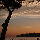Mallorca beach as the sun sets  by Tony Blakie