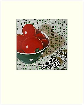 Bowl of Tomatoes by Sarah  Edmondson