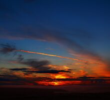 Sunset over the Derwent Valley by Reinhardt