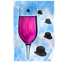 Cocktails with Magritte - Print Poster