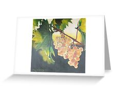 Golden Wine Greeting Card