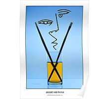 Cocktails with Picasso - Titled print Poster
