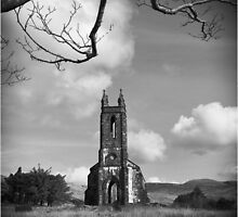 Old church at Dunlewey, Donegal by monomax