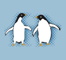 Dancing Penguins by evisionarts