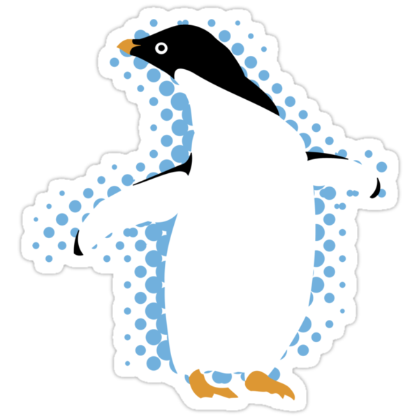 Penguin Posing by evisionarts