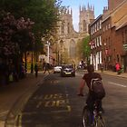 York Minster and Cyclist by Chris Millar