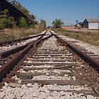 Train Tracks - Groundlevel Perspective by imagewerks
