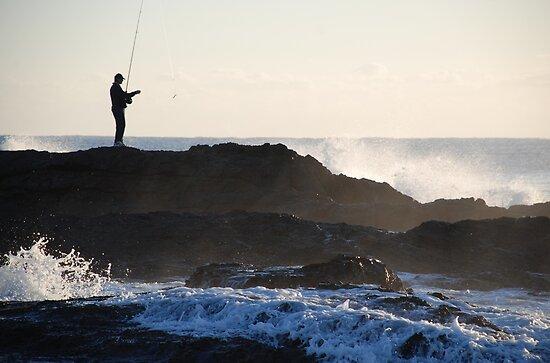 White Water Fishing by Graham Mewburn