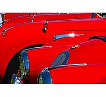 Will the owner of the red Jag...... Photographic Print