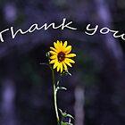 Thank You Card with a Sunny Flower by Corri Gryting Gutzman