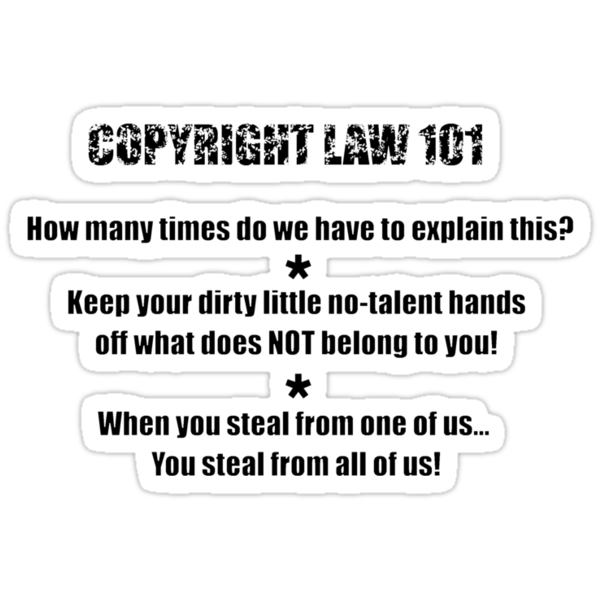 COPYRIGHT 101 #5 - by BYRON