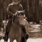 Horseman in the High Country II by saltbushbill