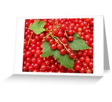 Market: Red currant  Greeting Card