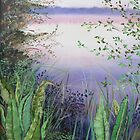 lake and ferns - sunset by alyona firth