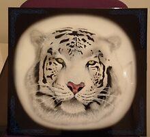 White Bangel Tiger Airbrushing by Risus1972