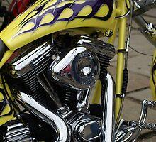 Harley Davidson Chopper by Sandra Cockayne