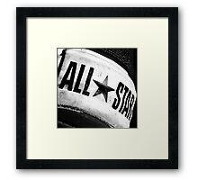 ALL STAR. Framed Print
