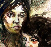 Portraits of Tegan and Sara by roxygen