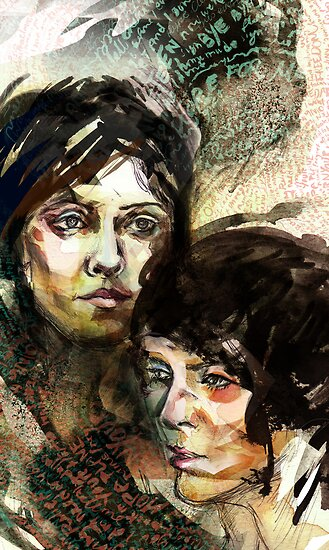 Portraits of Tegan and Sara by roxygen