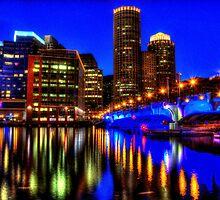 Night of Blue - Fort Point Channel, Boston by LudaNayvelt