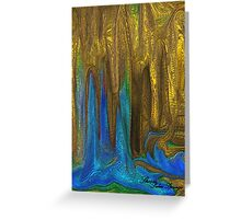 PLANET OF GOLDEN CAVES`  Greeting Card