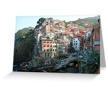 Riomaggorie Harbour-Cinque Terre, Italy Greeting Card