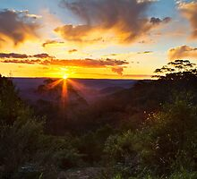 Sunset view from Mt Tomah  by Jennifer Bailey