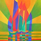 Dreamboat - Cubist Junk In Primary Colors by taiche